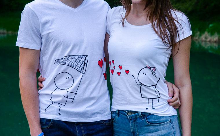 Stampa magliette San Valentino